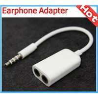 3.5mm 1 to 2 Stereo Headphone / Earphone Splitter Cable adapter for mobile phones