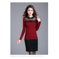 Ladies sweater lace front with long sleeve item noJ907