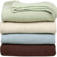 100% cotton Waffle Hospital thermal blanket