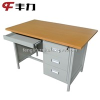 Knock Down Structure Steel Office Computer Table
