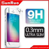 9H hardness 2.5D round edge tempered glass screen protector for iphone 5