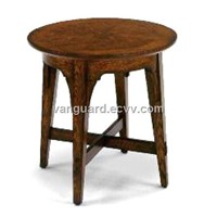 Wooden/Veneer Round End Table