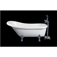 White acrylic cUPC certificate hot sale clawfoot bathtub