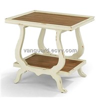 Solid wood/Plank Top Rectangle End Table