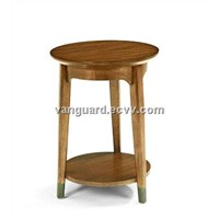 Wooden/Veneer Accent Round Table