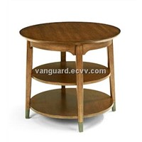 Wooden/Veneer Round Lamp Table