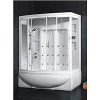 White acrylic whirlpool massage CE RoHS wet steam room