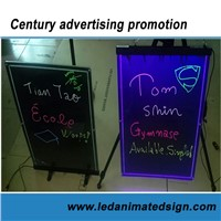 Led illuminated Magnetic Writing Board for advertising