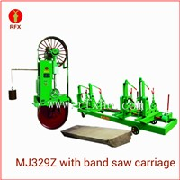 "MJ329Z 35"" Automatic African teak wood cutting band saw"