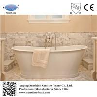 SW-1002C cast iron enamel soaking bath tub, not acrylic bathtub
