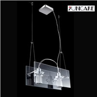 factory direct sale tempered glss adjustable angle of illumination LED pendant lamp