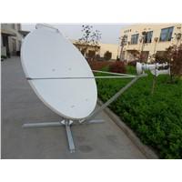 1.8M satellite earth station offset  VSAT antenna