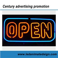 Business Advertising Open Neon Sign