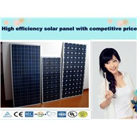 High efficiency but competitive price solar panel