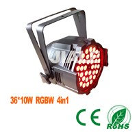 36x10w RGBW 4in1 led par light/stage light