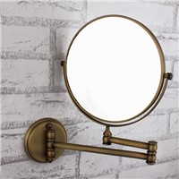 New Design!!!antique brass backlit swivel wall mirror for bathroom