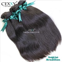 shedding&tangle free brazilian natural straight hair extensions
