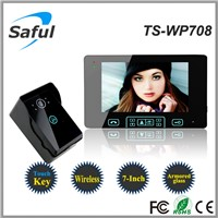 wireless doorbell with camera Saful TS-WP708 300m wireless video door phone