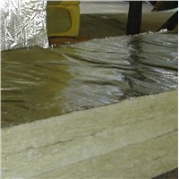 Rockwool board with aluminum foil