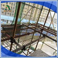 Pedal reinforcing mesh for scaffolding