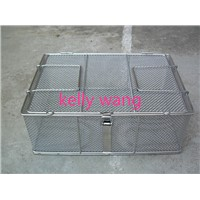 stainless steel woven,welded hospital medical wire mesh basket