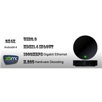 4K Android 4.4 Smart TV Box with HDMI in/out,USB3.0,Gigabit Ethernet,H.265 Decoding