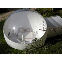 Half Transparent Inflatable Dome Sight-Seeing Beach Tent