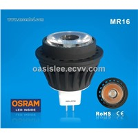 High quality ce/rosh GU10 MR16 6W OSRAM COB LED spotlights