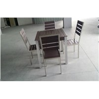Frame type stainless steel four set table
