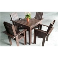 WPC four-person table chair