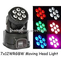LED Mini Moving Head Light Wash 7x12w RGBW Quad Moving Head Wash