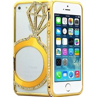 Luxury CZ Diamond Metal Bumper Case for Smart phones