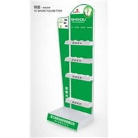 Metal LED Lamps Display Holder Floorstanding Bulbs Testing Shelf