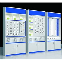 Display Shelf Racks MDF Material Display Kiosk for LED Lamps