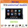 2 din touch screen car radio dvd car gps for universal cars DH7021