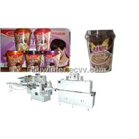 Cup Milk Tea Auto Shrink Packing Machine with Shrink Tunne