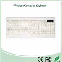 White Color Hot Selling 2.4Ghz Wireless Keyboard