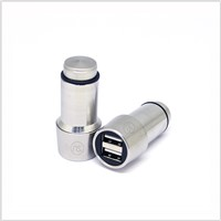 2 USB Port 2.4A Metal Car Charger Adapter