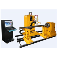 cnc steel pipe intersection plasma cutting machine
