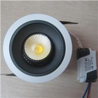 Anti glare 7W high quality SUNCARE pure aluminum CE approval adjustable angle led COB down light
