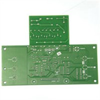 Double-sided PCB with Purple Solder Mask Color and 1.6mm FR4, Suitable for V-cut