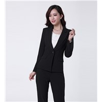 Ladies  business suit,jacket and pant with high quality,stock available,small MOQ