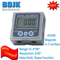 0.05 Degree Magnets Base Bevel Gauge Digital Angle Cube Inclinometer