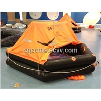 life raft for marine life saving equipment