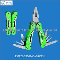 Multipurpose tool with aluminum handle color can be customized(EMP08AL0024S-green)