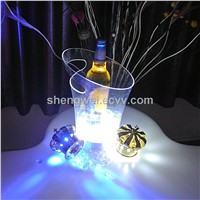 Mini LED Champgne Ice Bucket Night Club/Bar/KTV Beer Wine Lighting Bucket