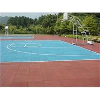Hot sales outdoor basketball rubber flooring