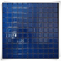 Pure Color Glass Blue Swimming Pool Mosaic tile