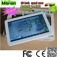 10 inch touch android 4.4 tablet/ quad core 10 inch tablet/mapan slim 10 inch bluetooth tablet