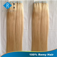 100% human remy hair tape hair extension